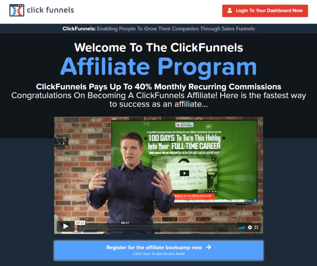 gagner de l'argent affilié clickfunnels